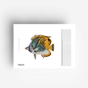 Perpetual Fish Birthday Calendar