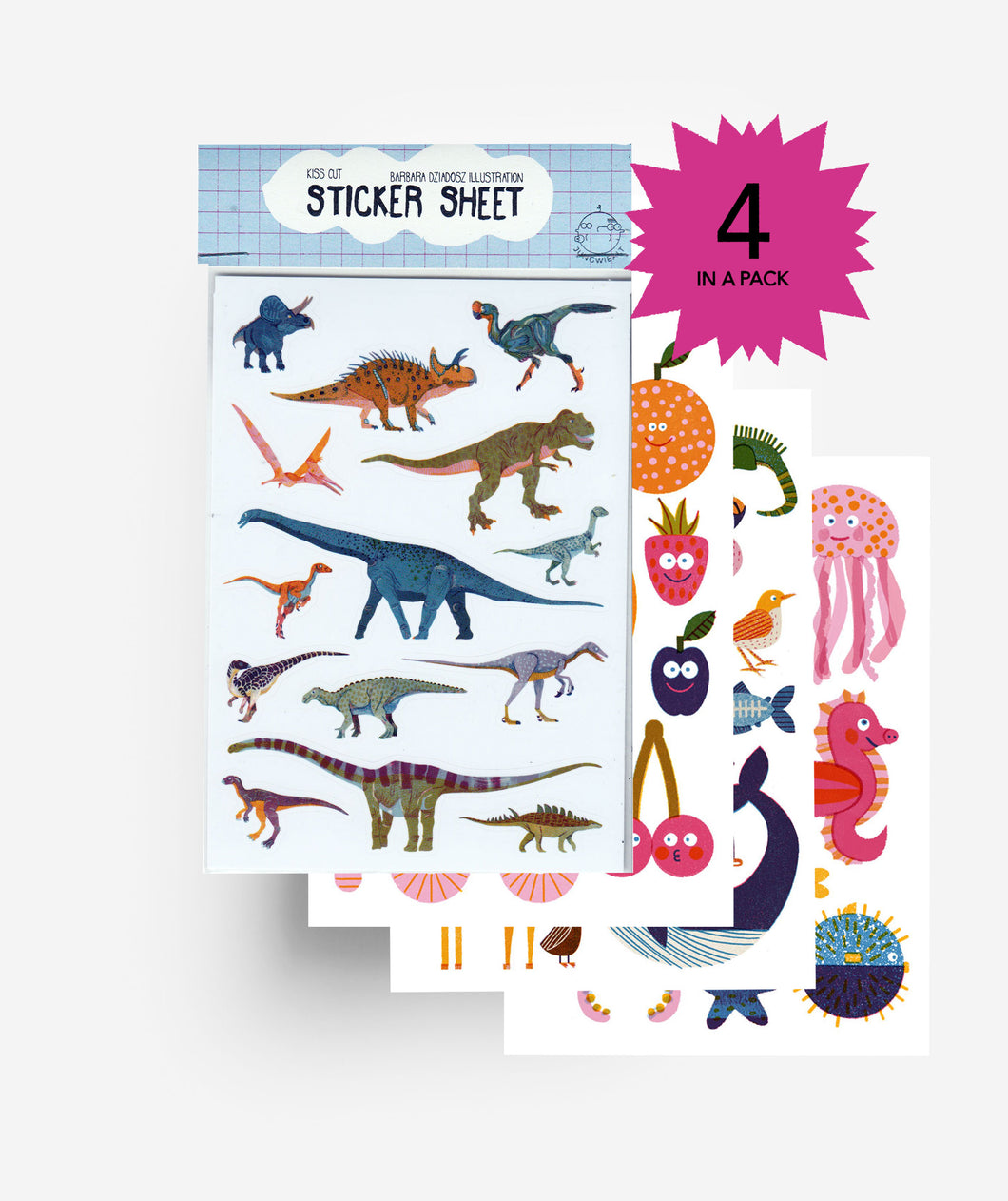 Kiss Cut Sticker Sheet Set (4)