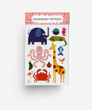 Load image into Gallery viewer, Animal A6 Temporary Tattoos