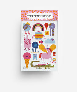 Creatures A6 Temporary Tattoos