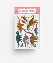 Load image into Gallery viewer, Dinosaur A6 Temporary Tattoos