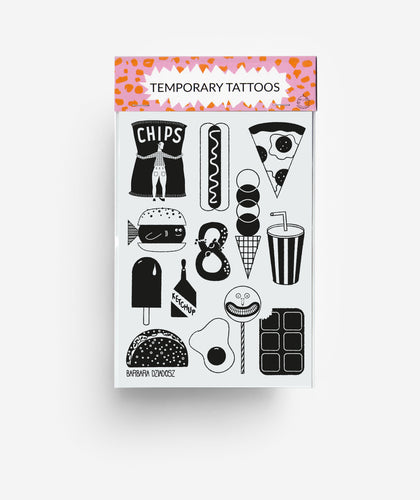 Junk Food A6 Temporary Tattoos