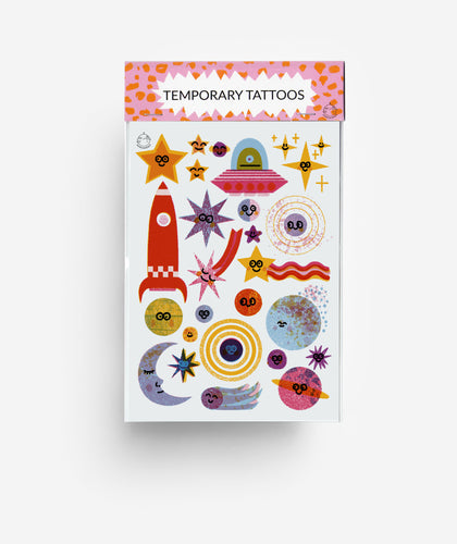 Outer Space A6 Temporary Tattoos