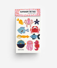 Load image into Gallery viewer, Underwater A6 Temporary Tattoos