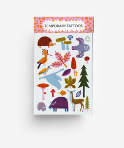 Woodland A6 Temporary Tattoos