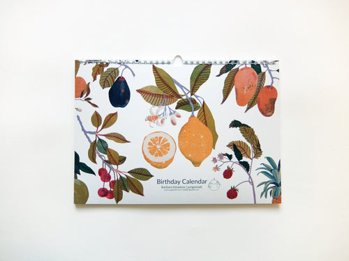 Perpetual Fruits Birthday Calendar