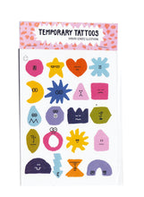 Load image into Gallery viewer, Feelings A6 Temporary Tattoos