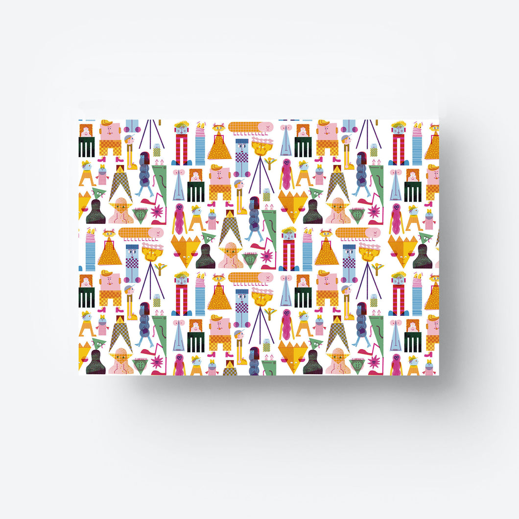 Friends Gift Wrap Sheet