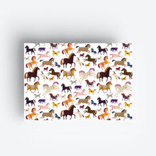 Load image into Gallery viewer, Horses Gift Wrap Set