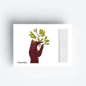 Perpetual Birthday Flower Hands Calendar
