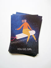 Load image into Gallery viewer, Go Girl Postcard DIN A6