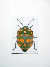 Load image into Gallery viewer, Green Bug Postcard DIN A6