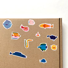 Load image into Gallery viewer, Fish Kiss Cut Sticker Sheet