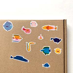 Fish Kiss Cut Sticker Sheet
