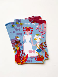 Mermaid Party Invite Postcard DIN A6