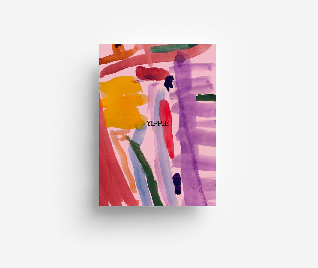 Abstract Yippie Postcard DIN A6