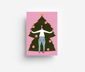 Christmas Tree Postcard DIN A6