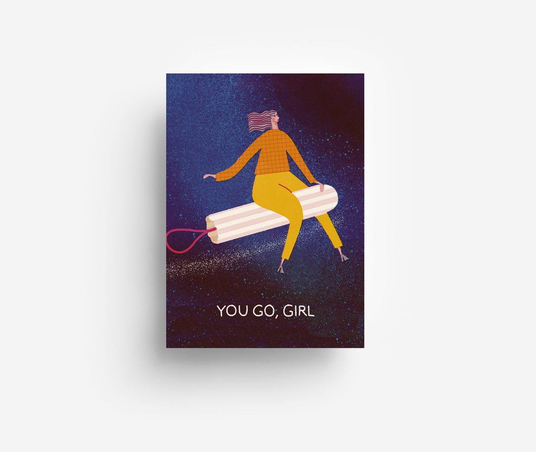 Go Girl Postcard DIN A6