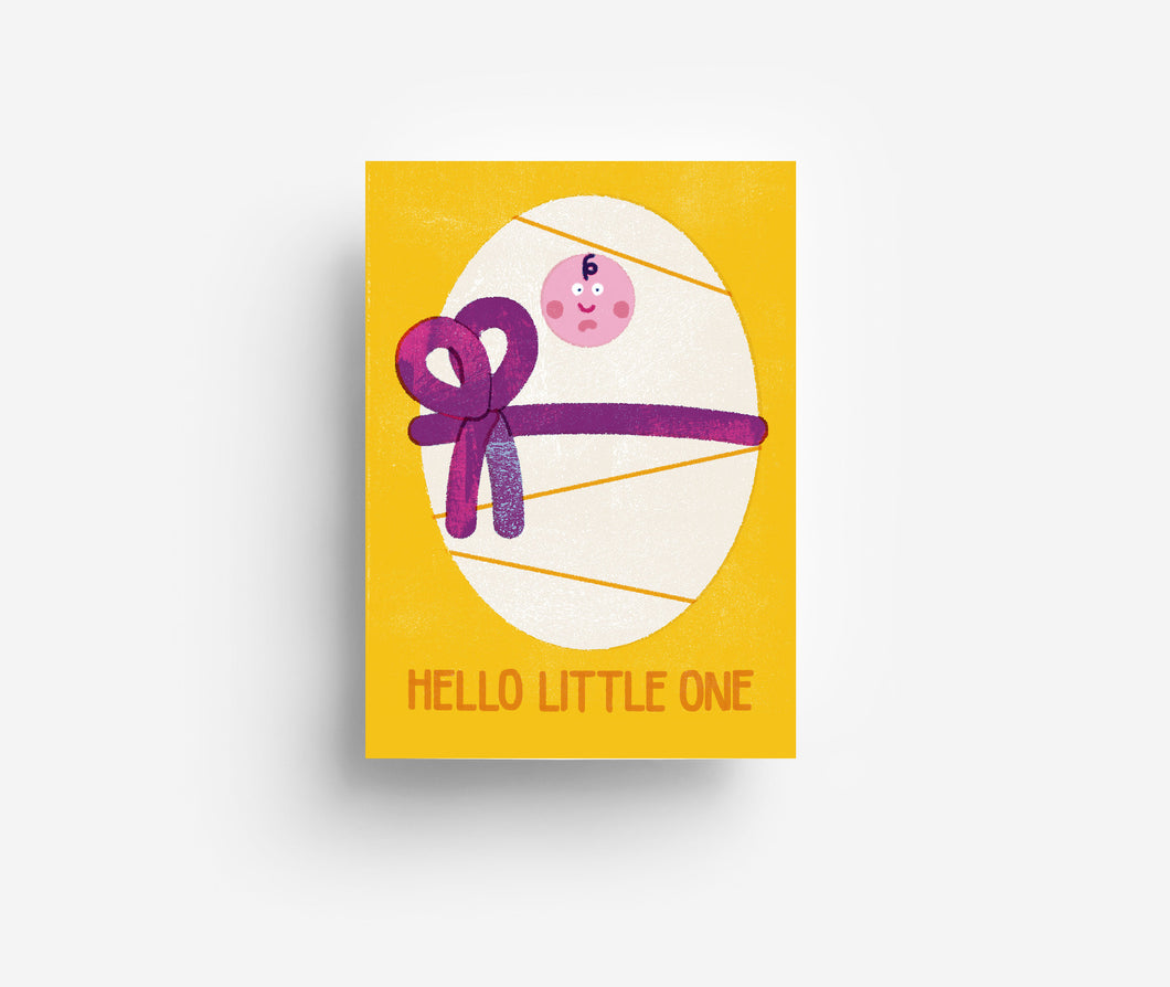 Hello Little Postcard DIN A6