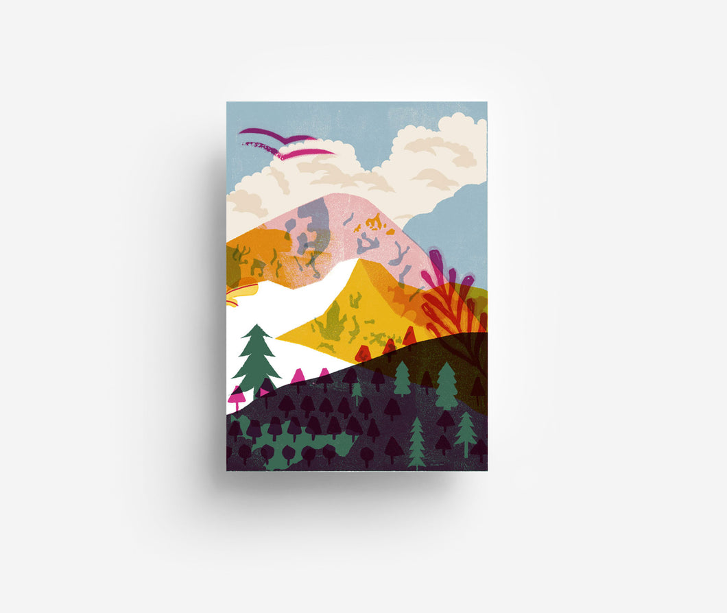 Mountains Postcard DIN A6