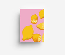 Load image into Gallery viewer, Pink Lemons Postcard DIN A6