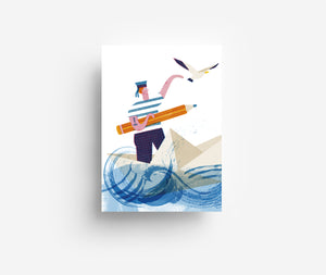 Sailor Postcard DIN A6
