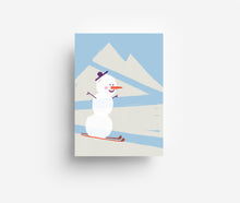 Load image into Gallery viewer, Snowman Postcard DIN A6