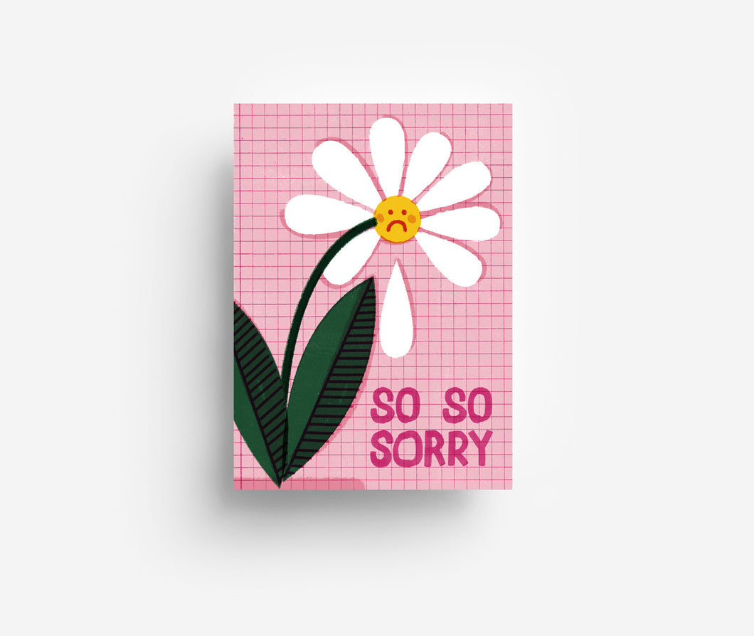 So Sorry Postcard DIN A6