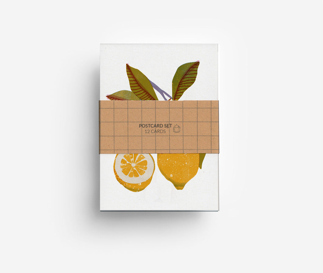 Fruits Postcard Set (12 Cards) DIN A6