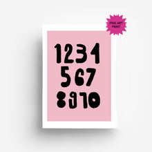 Load image into Gallery viewer, Numbers Fine Art Print DIN A3