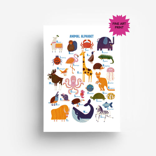 Animal Alphabet Fine Art Print DIN A3