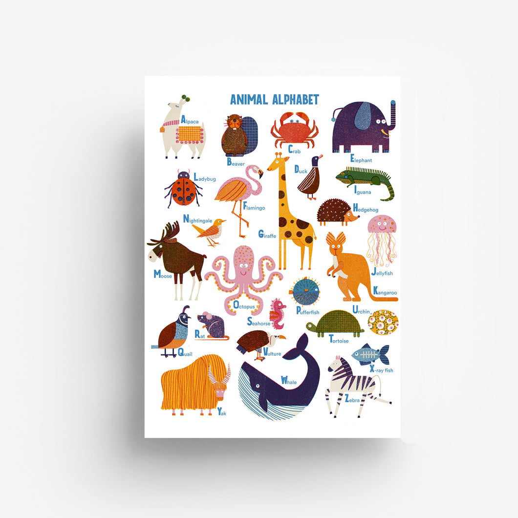 Animal Alphabet Digital Print DIN A3