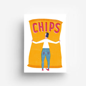 Chips Digital Print DIN A3