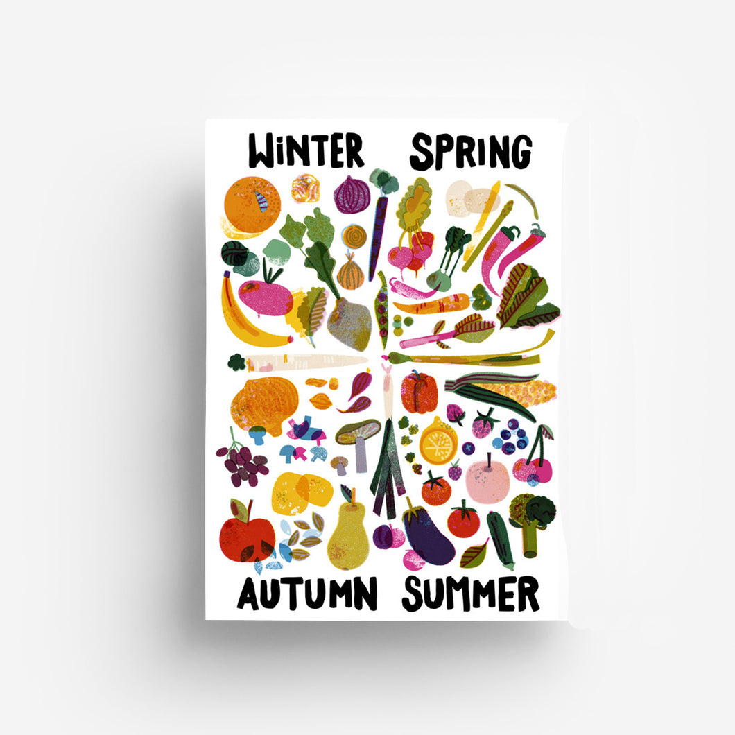 Food Seasons Digital Print DIN A3