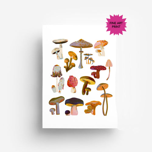 Mushrooms Fine Art Print DIN A3
