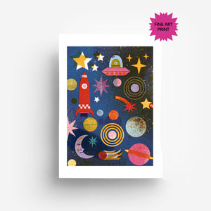 Outer Space Fine Art Print DIN A3