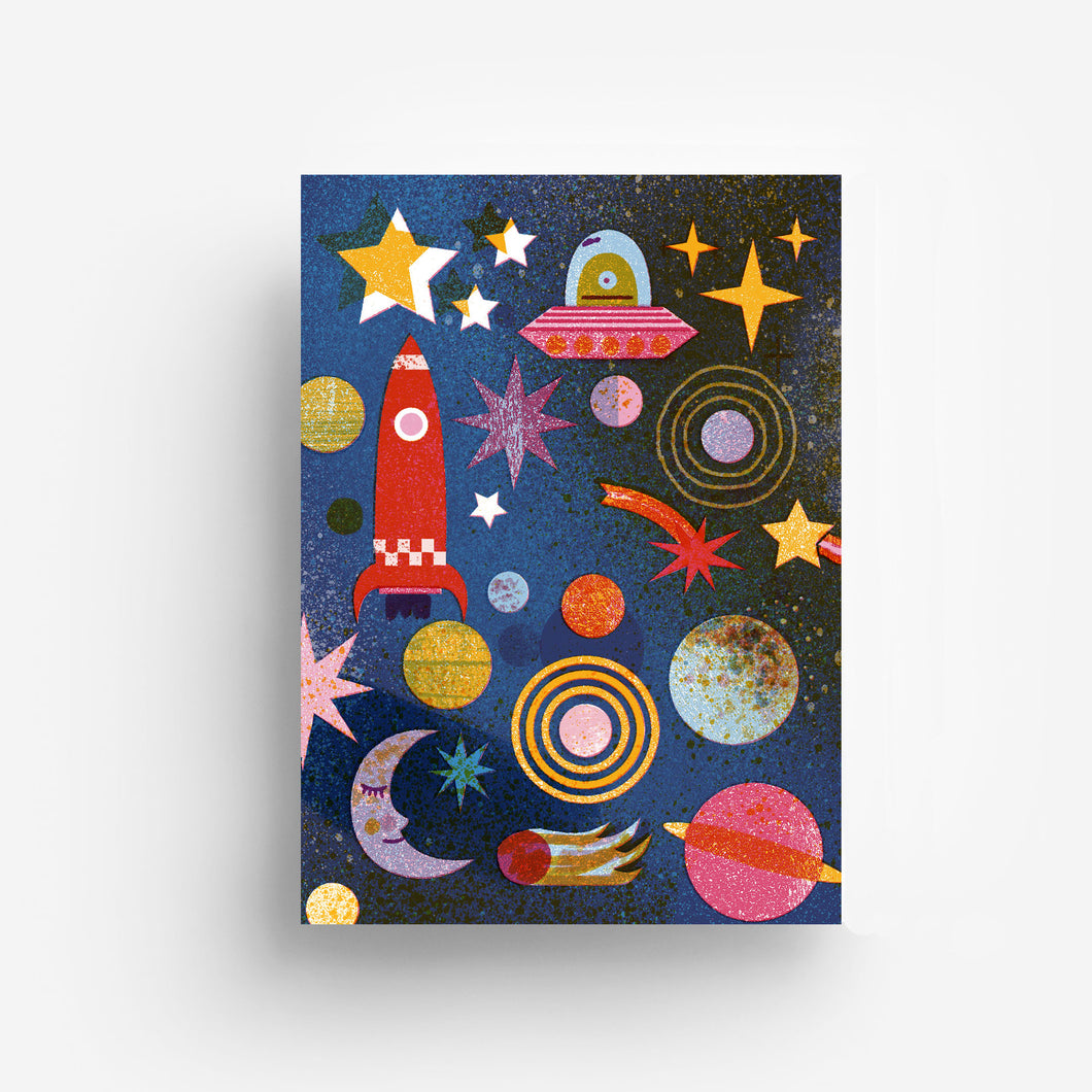 Outer Space Digital Print DIN A3