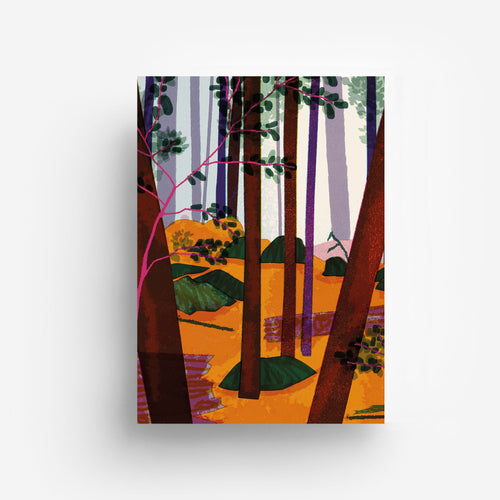 Trees Digital Print DIN A3