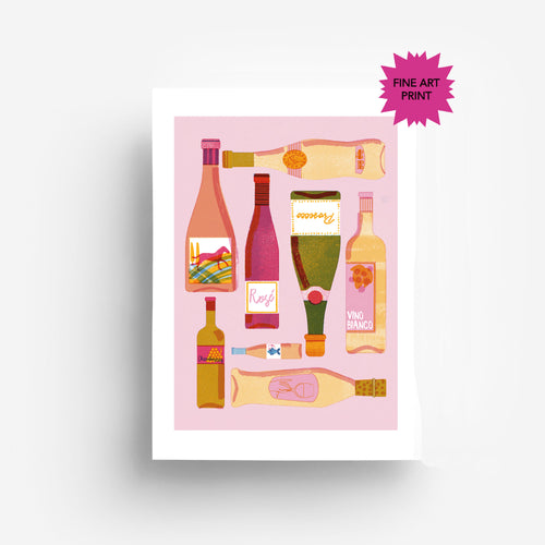 White Wine Fine Art Print DIN A3