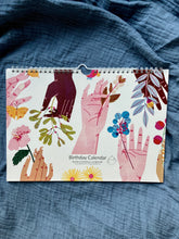 Load image into Gallery viewer, Perpetual Birthday Flower Hands Calendar