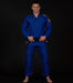Front view of a Ground Game Champion 2.0 BJJ Gi Blue