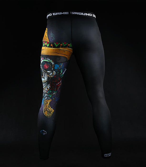Ground Game Mexican Skull Leggings