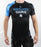 Front view of a Ground Game Oni Black Rashguard Short Sleeve