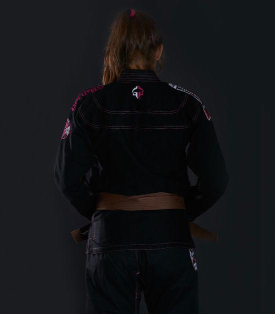 Back view of a Ground Game Sakura BJJ Women`s Gi Black