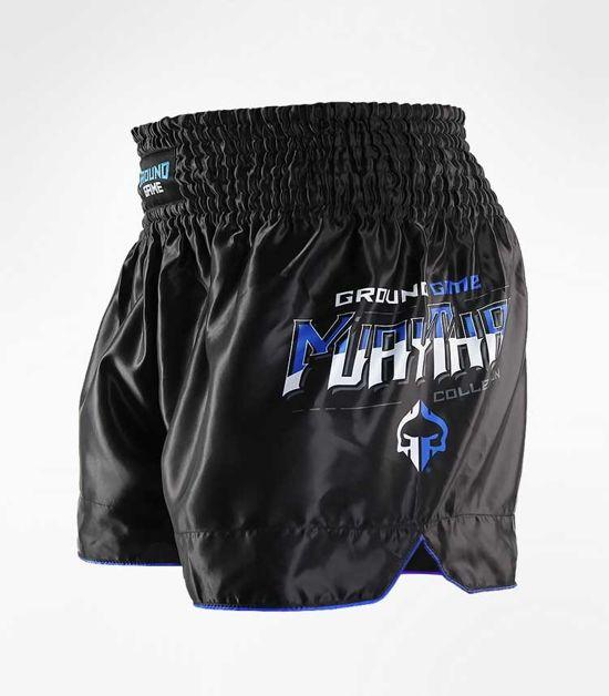 Side view of a Ground Game Shield Muay Thai Shorts