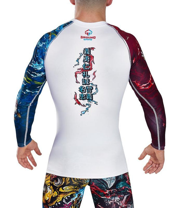 Ground Game Bushido II Rashguard Weiß