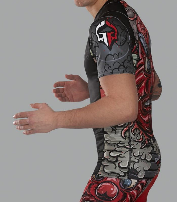 Ground Game Tengu Rashguard Kurzarm
