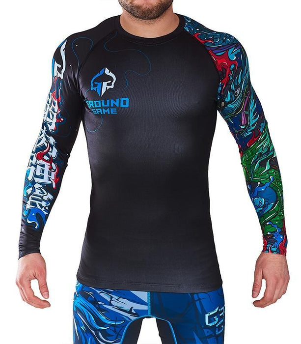 Ground Game Yokai Schwarz Rashguard