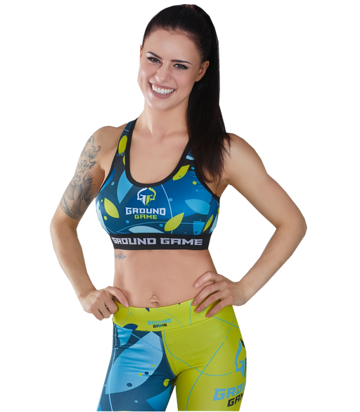 Ground Game Flowers Sports Bra