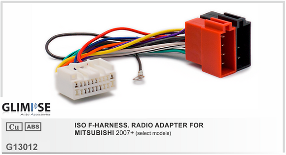 ISO F-HARNESS. RADIO ADAPTER FOR MITSUBISHI 2007 on